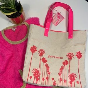 Juicy Couture beach bag tote